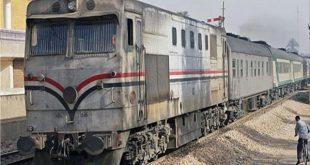 صدمه قطار في قنا قطار الصعيد