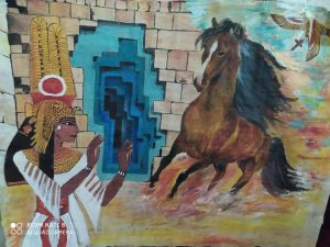 رسومات فتاة نجع حمادي