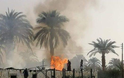 ربة منزل تفحمت بحريق