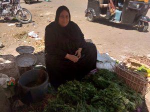 بائعة الخضروات في قنا