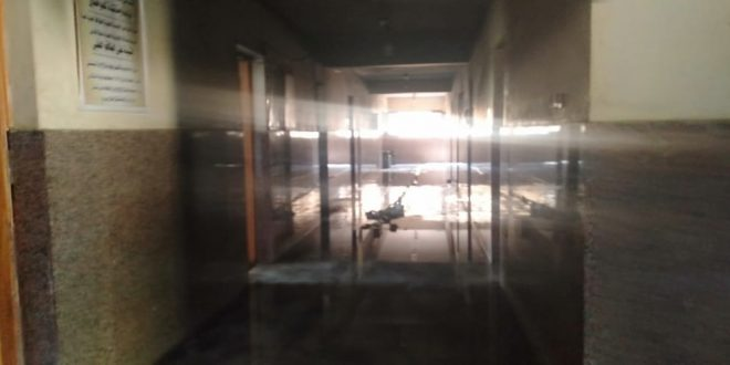 حريق مستشفى دشنا